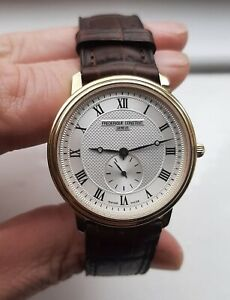 FREDERIQUE CONSTANT GENEVE Slimline Gold Plated Watch FC-235X3S25 /6