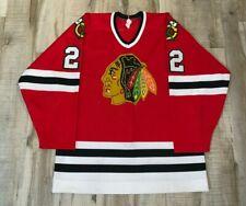 1987-88 Gary Nylund Chicago Blackhawks Game Worn Jersey VTG CCM