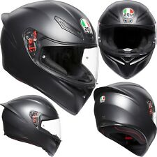 AGV Helm K-1 SOLID schwarz matt K1 Integralhelm Motorradhelm Integral ML 58