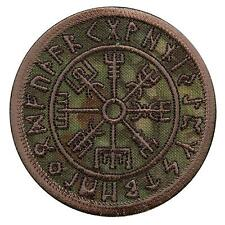 Vegvisir Compass Viking Icelandic Norse Runic kryptek hook-and-loop patch