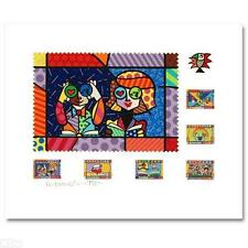 ROMERO BRITTO signed EDUCATING the WORLD Embellished Serigraph LTD ED COA