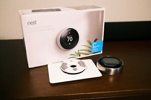 Google Nest Learning Thermostat 3rd Gen Smart Thermostat (Stainless) T3032US