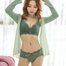 Sexy-lingerie Push Up Bra Set Gather Bra Briefs Underwear Pink 32B 34 36A 38 40C