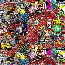 Skate bmx stickers bomb sheet euro vinyl decal vw vauxhall honda dub wrap