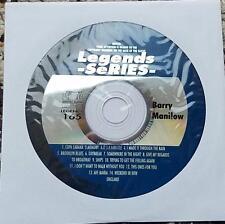 LEGENDS KARAOKE CDG BARRY MANILOW OLDIES 157 COPACABANA,MEMORY - 14 SONGS
