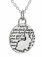 Bunny Rabbit Necklace - 950 Sterling Silver Handmade Inspirational Pendant NEW