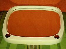 alter Spiegel 50er Jahre midcentury 50s Bad bathroom mirrow weiss/beige oval