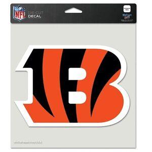 "Cincinnati Bengals NFL 8""x8"" Decal Sticker Primary Team Logo Die Cut Car Auto"