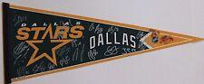 2012-13 Dallas Stars Hockey Team Autograph NHL Pennant MORROW BENN JAGR 21 Autos