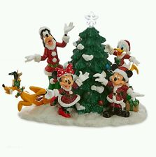 Disney Parks 2016 Santa Mickey Mouse and Friends Light-Up Tree Figure Pluto