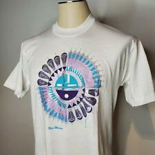 Vintage 90s New Mexico White T Shirt L Southwest Single Stitch Screen Stars Sun