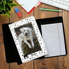 Personalised Deluxe Fabric Dog PHOTO Notebook Holder Notepad N9 Office Home