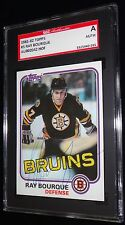 RAY BOURQUE BRUINS 1981-82 TOPPS #5 VINTAGE 2ND YEAR AUTOGRAPHED CARD SIGNED SGC