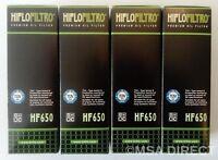 Hiflofiltro Oil Filters (x4) Fits KTM ADVENTURE 950 / 990 / 1050 / 1190 / 1290