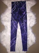 Black Milk Clothing Purple Lightning Leggings S Unreleased Sample Blackmilk