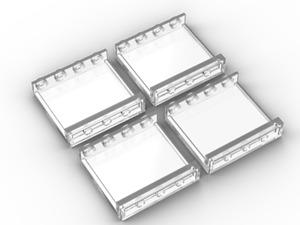 4x New Genuine Trans clear LEGO Panel 1 x 4 x 3 60581