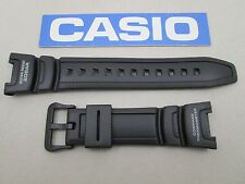 Genuine Casio Twin Sensor SGW-100J black resin rubber watch band strap