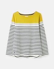 Joules 211602 BCI COTTON Long Sleeve Jersey Top Shirt - GOLD BLOCK STRIPE