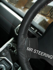 BLACK LEATHER STEERING WHEEL COVER FOR FORD CAPRI III 1978-1987 DOUBLE STITCHING