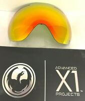 $90 Dragon X1 Red Ion Ski Goggle Replacement Lens NWT Snowboard