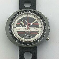 RARE VINTAGE HEUER LEONIDAS EASY RIDER JACKY ICKX Cronografo manuale del vento