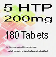 5 HTP 200mg 5-HTP 5htp Natural Serotonin Sleep Stress Anxiety x 180 Tablets UK