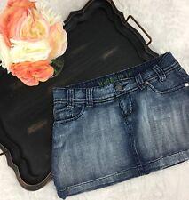 Hydraulic Womens 7/8 Denim Mini Skirt