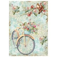 DFSA4238 Bike and Branch Stamperia Rice Paper A4 Decoupage Mixed media