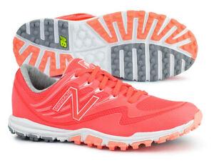 New Balance Women's Minimus Sport Spikeless Coral White Golf Shoes NBGW1006 NIB