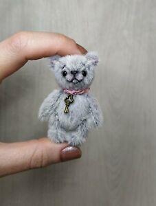 Teddy Jim, 6,5 cm, Miniatur Bärchen, Teddy Bear, Künstlerteddy von Anna Milaya
