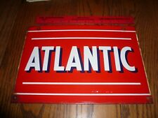 Porcelain Antique Atlantic Gasoline Gas Pump Sign Circa 1950,1960,1970 - D/L