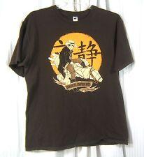 FireFly Sz. L Serenity Browncoats Print TShirt brown 100% Cotton Tee Fury Shirt