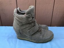 EUC ASH COOL EUR 40 US 9.5 - 10 Women's High Top Ankle Wedge Heels Sneaker Shoe