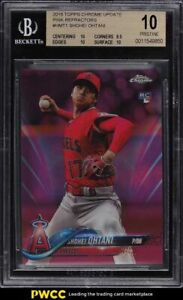 2018 Topps Chrome Update Pink Refractor Shohei Ohtani ROOKIE RC BGS 10 PRISTINE