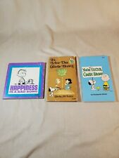 Lot of 3 Vintage Charlie Brown Peanuts Snoopy Charles Schulz Books Scolastic