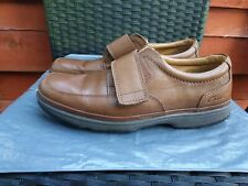 MENS TAN LEATHER CASUAL SHOES BY CLARKS 1825 SIZE 8H