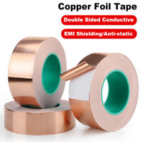 Double Sided Copper Foil Tape EMI Shielding Conductive Tapes 10m x 50mm