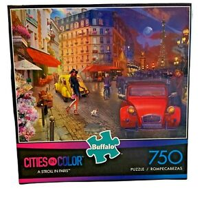 Buffalo Games Cities in Color  A Stroll in Paris 750 Piece Jigsaw Puzzle