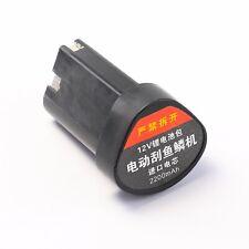 12v  Li-ion Rechargable Battery 2200mah for Electric Fish Scale Scraper Scaler