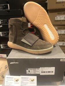 Adidas Yeezy Boost 750 Chocolate BY2456 Size 8 100% Authentic Light Brown Gum