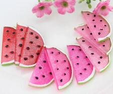 20pcs big watermelon slice Decoden Kawaii glitter Flatback Resin Cabochons 35mm