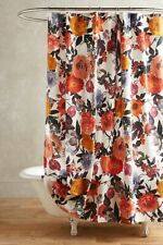 NEW Anthropologie Agneta Shower Curtain Colorful Floral Gorgeous!
