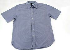 Men's CLASSIC FIT ESSENTIAL STRIPE SHIRT, Short Sleeve by Tommy Hilfiger Size L