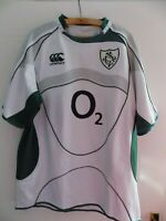 Ireland Rugby Union Shirt Retro Jersey Adults Away Top Mens Canterbury 2007 2009