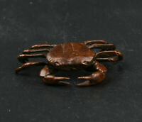 43MM Collect China Fengshui Bronze Animal Crab Eriocheir Sinensis Hairy  Statue