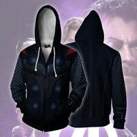 The Avenger 4 Thor hoodie Sweatshirt Cosplay Costume zip up coat jacket
