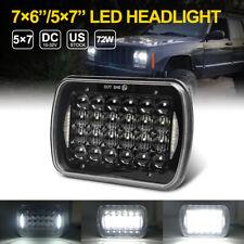 """5x7"""" 7x6"""" CREE LED Headlight Halo DRL For Jeep Wrangler YJ Cherokee XJ 1986-1995"""