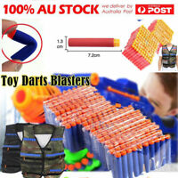 10-1000Pcs Lot Refill EVA Foam Bullet Darts Tactical Vest For Nerf Toys Gun Kids