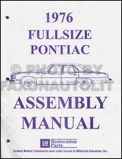 1976 Pontiac Factory Assembly Manual Bonneville Catalina Grand Safari