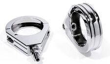 Indicator Mounting Bracket Chrome Fork For Harley Davidson 1 15/16in